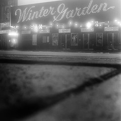 winter garden (Barry Yanowitz) Tags: nyc newyorkcity blackandwhite bw signs ny newyork 6x6 film sign mediumformat blackwhite kodak manhattan trix broadway 120film d76 midtown wintergarden timessquare scanned brownie gothamist filmcamera theaters nycity selfdeveloped kodakbrowniehawkeyeflash wintergardentheater selfdeveloping d76developer broadwaytheaters