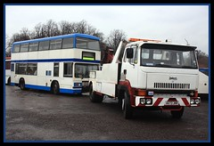 A Titan(ic) Towing Task (SemmyTrailer) Tags: bus truck lorry titan lt towing leyland b15 roadtrain t45 wrecker stagecoacheastlondon kyv482x t482