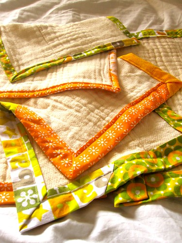 Newly-binded baby rags!!