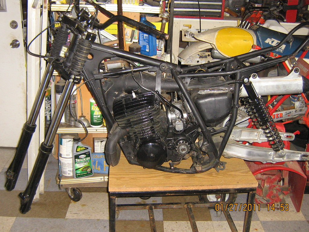 KDX 400 parts bike with running motor