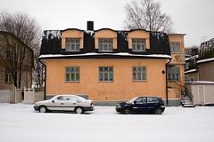 street winter urban house snow building cars concrete helsinki iso400 vallila puuvallila canonef90300mmf4556usm