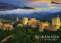 UNESCO - Granada, Spain (rafal.postcrossing) Tags: spain postcard andalucia unesco granada postcards andalusia whs exchnage
