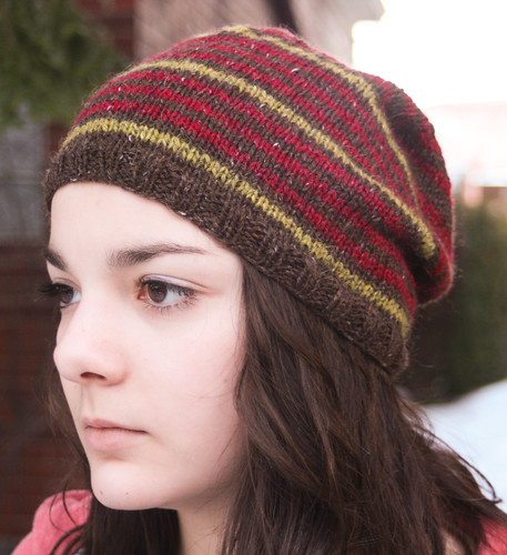 Striped Beanie by Martin Storey in Felted Tweed