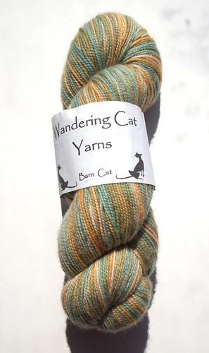Wandering Cat Yarns-Barn Cat-Parrot Fish-merino-nylon-400yds
