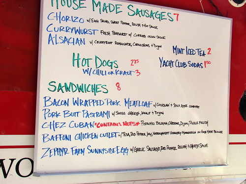 menu board, April 9, 2011