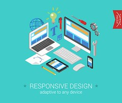 Responsive Website Design Services (AdamsComm, Inc) Tags: icon 3d flat responsive website webdesign interface laptop tablet phone smartphone touch screen site gears idea adaptive conceptual creative icons abstract banner concept design illustration image isometric sign symbol vector web infographics pixel art pixelart