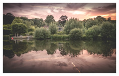 The House Across The Water (David Haughton) Tags: sunset thames river riverside riverbank evening summer reflections fineart landscape goring oxfordshire england davidhaughton