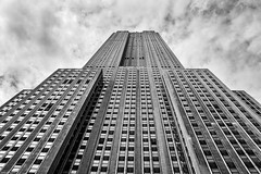 Empire from below (bananacake1000) Tags: empirestatebuilding newyorkcity usa travel nikon monochrome architecture urbanlandscape urban flickrunitedaward