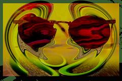 Visiones distróficas (seguicollar) Tags: imagencreativa photomanipulación art arte artecreativo artedigital virginiaseguí surrealismo surreal surrealista gafas brillante verde red rojo amarillo yellow
