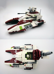 Republic Fighter Tank modifications (E-Why) Tags: lego star wars clone republic fighter tank modification moc