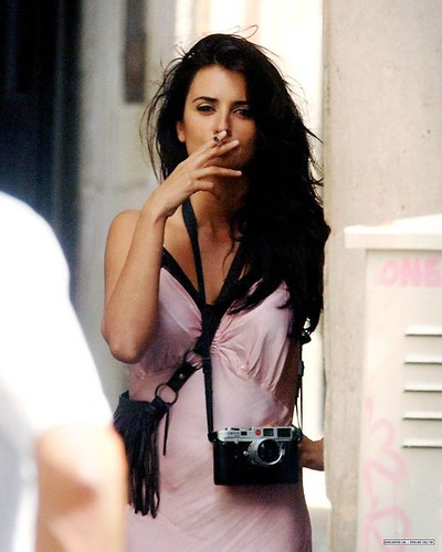 Penélope Cruz smoking 3 by Nicholas R. Andrew, on Flickr