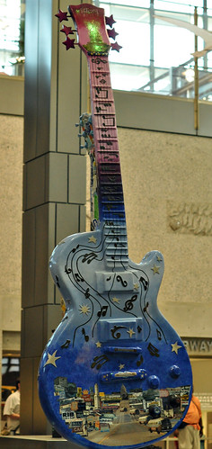 Giant Painted Guitar