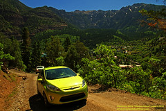 2011 Ford Fiesta climbing up Box Canyon