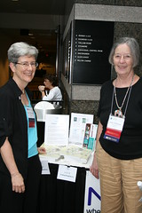 Judy (right) with Nancy Shoemaker of AAUW NC