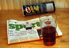 Glass half empty (Dunc(an't stand this new layout!)) Tags: england beer germany football poor ale disaster worldcup pint pringles guardian 41 capello glasshalfempty staustell englishfootball davidjames
