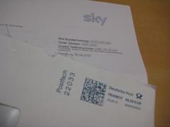 Post (und AGB) von Sky