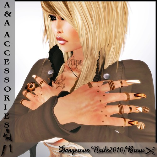 A&A Fashion Dangerous Nails2010 Brown The texture changer on NAILS