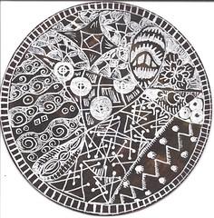Coaster Side 2 (molossus, who says Life Imitates Doodles) Tags: tangles zentangle zendoodle zentangleinspiredart