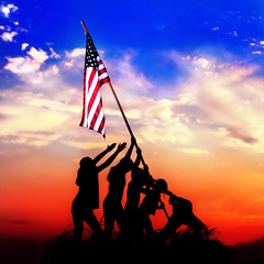 Flags of our Fathers (JasonlPrice) Tags: america children flag american iwojima raising joerosenthal