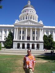 Kevin in front Sacramento California Capitol