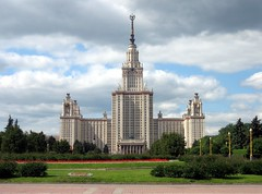 Huge Stalinist Moscow State University Main Building, Moscow, Russia (Bencito the Traveller) Tags: building russia moscow stalinist moscowstateuniversity