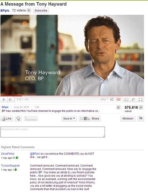 Tony Hayward on YouTube