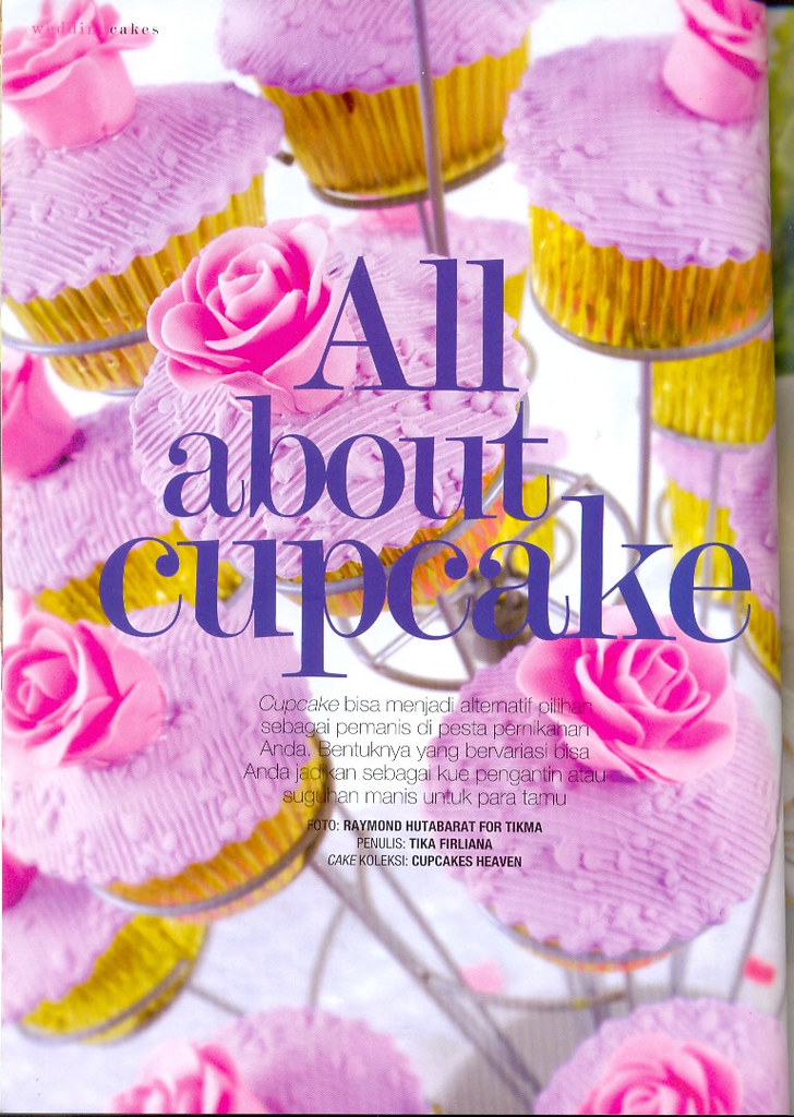 Cupcakes Heaven on Wedding Indonesia magazine