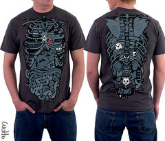 Insides Out at DBH (WOTTO*) Tags: black cute illustration dark out keys skull design heart tshirt killer anatomy gore ribcage characters ghosts slime tee insides guts lungs detailed kidneys internalorgans heartbroken brokenbones pancreas gloopy shoulderblades wotto wottoart