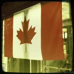 Retro Canadian Flag
