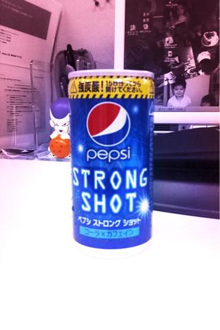 """今日も""""PEPSI STRONG SHOT""""店頭からなくなるまで買い続けよう。"""