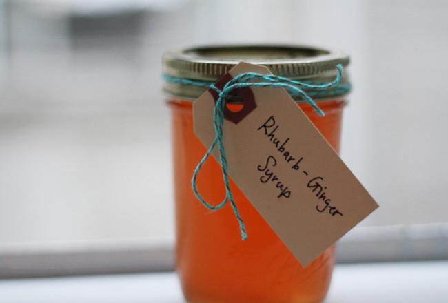 rhubarb ginger syrup