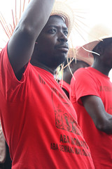 Peasant supporter at anti-Monsanto rally (teqmin) Tags: usaid demo haiti corn farmers seeds mpp monsanto hinche haitianpeasants plateaucentral gmofreeworld usforeignaid tminskyixnetcomcom antimonstanto foodsoverignty