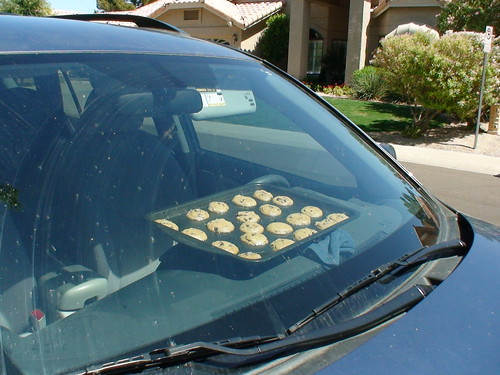 We made cookies. In the car.