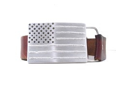 Born on the 4th of July American Flag Belt Buckle