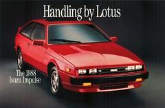 1988 Isuzu Impulse (aldenjewell) Tags: lotus postcard 1988 impulse isuzu