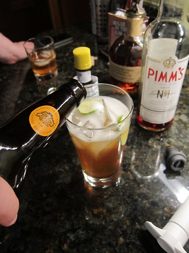 Mixing me a Pimm's Cup