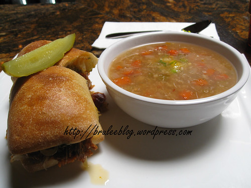 mrkt soup and sandwich