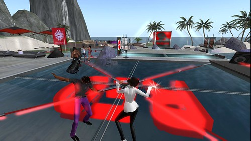 second life party at red zone club