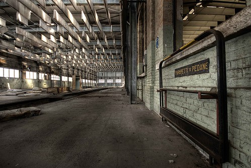 Inside railway depot