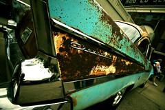57' Bel Air (Garret Voight) Tags: classic chevrolet belair car vintage rust automobile antique decay retro carshow fins backtothe50s