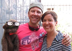 Erik, Rebecca, and Monkey