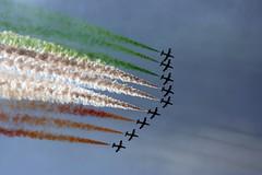 Frecce Tricolori (Ladypedina) Tags: blue sea sky italy plane italia mare flag cielo sicily capo aereo sicilia messina 2010 frecce tricolori bandiera luglio dorlando