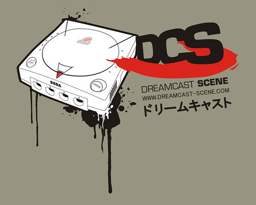 "Dreamcast Scene Shirt ""one"" - detail"