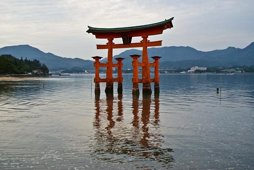 Torii flotante de Miyajima (Japón). Autor: dperez.com