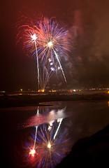 Pismo Fireworks 2010 (puliarf) Tags: reflection beach fireworks centralcoast 4thofjuly pismo pismobeach