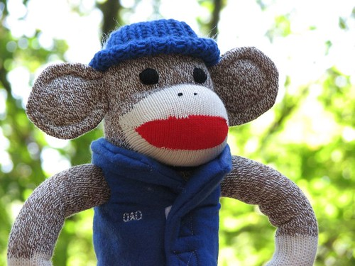 Big Ear Outdoor Dad Sock Monkey