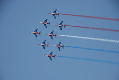 Flypast, French tricolour (Asif Jah) Tags: flag tricolour flypast freach