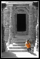 Modhera Sun Temple, Gujarat, India (Divyesh Nagar) Tags: world life old boy people sculpture orange india color colour art heritage love monument architecture composition temple nikon vishnu child god islam memories steps culture running symmetry balance shiva hindu archeology gujarat ahmedabad indianart suntemple stepwell ramkund modhera waterstorage undergroundwater lordvishnu modherasuntemple divyeshnagar ranikivaav