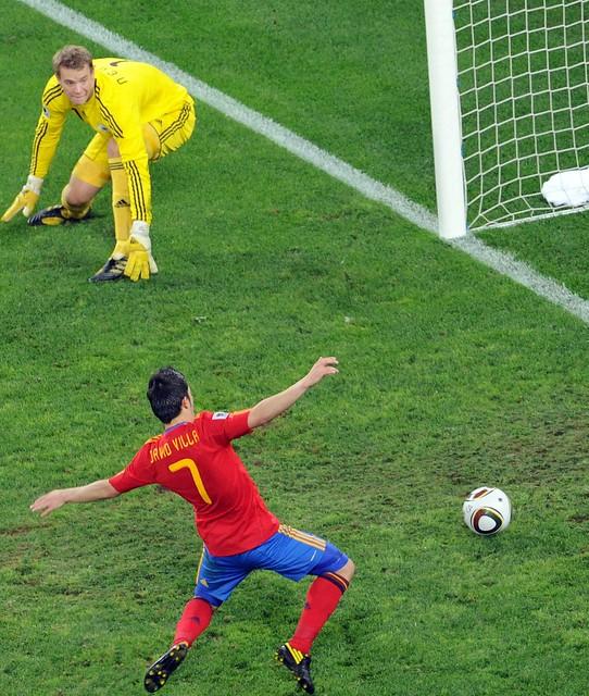 España Alemania Semifinal Mundial David Villa