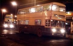 "A rare visit to Park Street, Walsall by a ""jumbo"" Fleetline 1981 (Walsall1955) Tags: bus buses night evening 531 jumbo walsall fleetline parkroyal parkstreet townend 3982 teb wmpte daimlerfleetline westmidlandspte busatnight tob982h jumbofleetline townendbank"